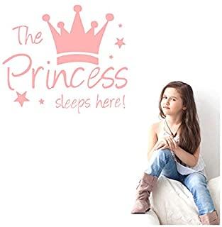 ملصق جداري من اوبان مطبوع عليه كلمة «Princess's Sleep Here» مع صورة تا…