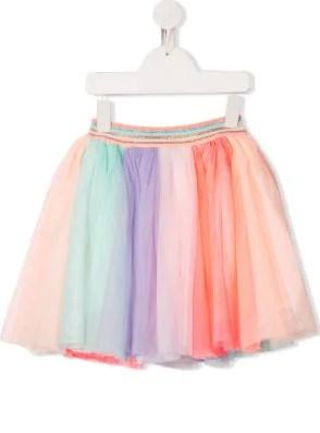تنورة تول بتصميم فلير متباينة الألوان